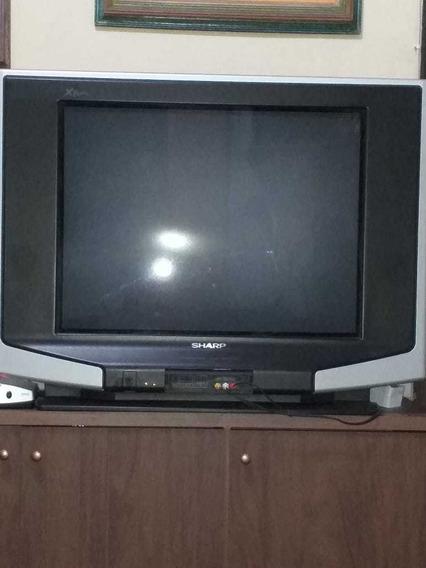 Vendo Tv Sharp, 29 Polegadas, Tela Plana, Controle, Manual.