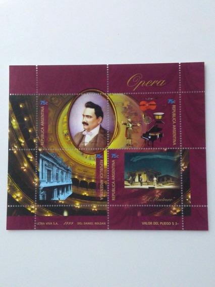 Estampilla,opera,enrico,caruso,año 1999