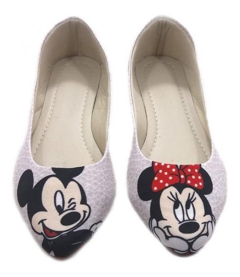 Sapatilha Feminina Mickey Adulto E Infantil