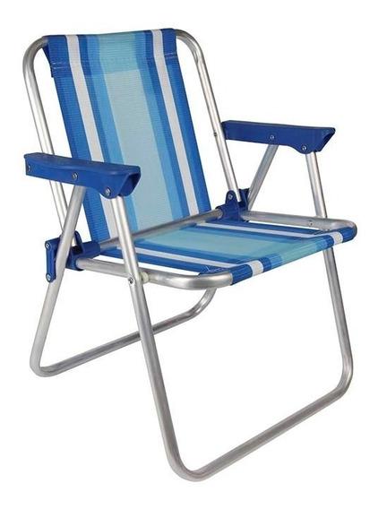Cadeira Infantil Alumínio Rosa Azul Praia Camping Mor
