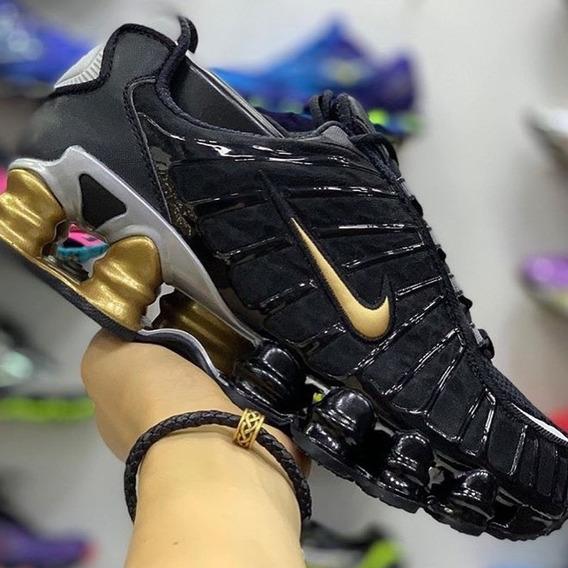 12 Molas Preto Com Dourado Nike Shox Tl 12 Mola 2019