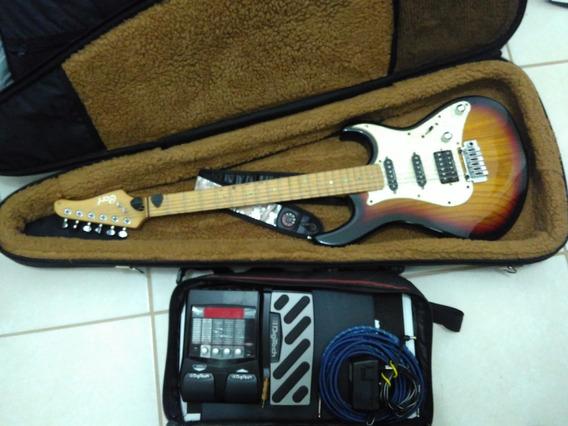 Guitarra Cort G260 + Pedaleira Digitech Rp255 + Case