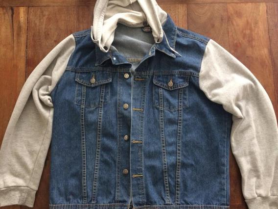 Jaqueta Jeans Masculina Com Moletom