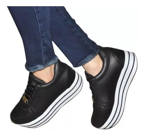 Zapatillas Tenis Plataformas Suela Alta Para Dama