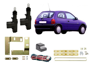 Conjunto De Trava Elétrica + Suporte Gm Corsa 2 Portas