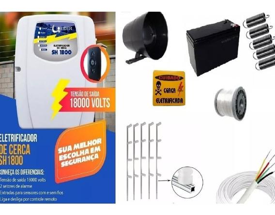Kit Cerca Eletrica E Alarme Com Bateria P/ 70 Metros +brinde