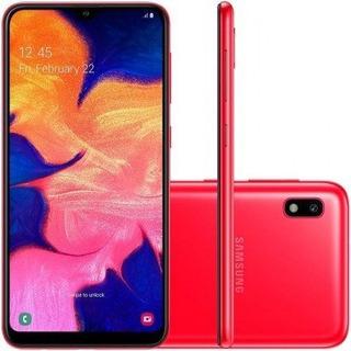 Smartphone Samsung Galaxy A10 32gb Desbloqueado Vermelho