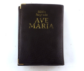 Bíblia Sagrada Ave Maria Capanga Média Marrom B5175