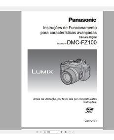 Manual Em Português Da Câmera Digital Panasonic Dmc-fz100