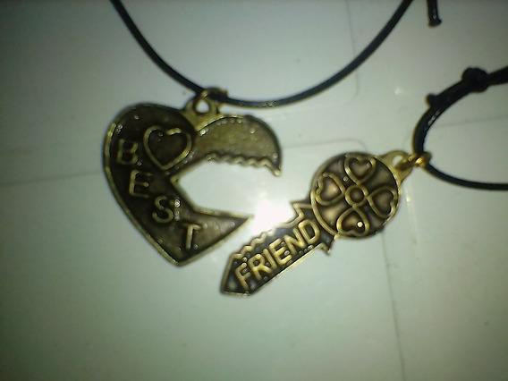Conjunto Best Friends Chave Coração + Chave Ouro Envelhecido