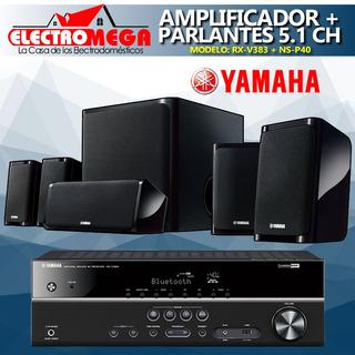 Amplificador Av 5.1 Ch + Sistema De Parlantes Yamaha 550w