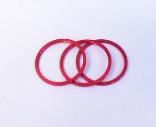 Espaçador Calço Aluminio Movimento Central Vermelho (3 Pçs)