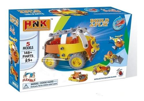 Vehículo Para Armar Juego Tipo Mecano Flexible Hnk020/21 Edu