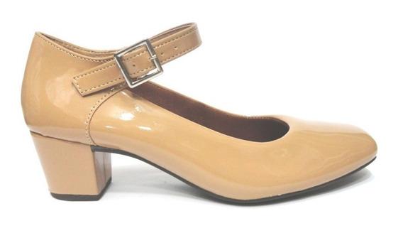 Sapato Feminino Lilha Shoes Salto Baixo Grosso