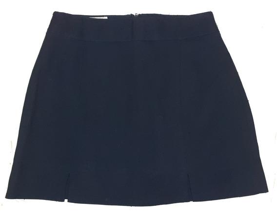 Pollera Corta Mini De Vestir Azul Oscuro Talle 2 Normandie