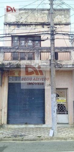 Sobrado Com 6 Dormitórios À Venda Por R$ 360.000,00 - Centro - Taubaté/sp - So0022