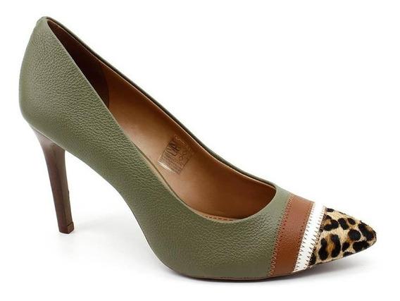 Sapato Scarpin Loucos E Santos 41164073 Verde Loja Pixolé