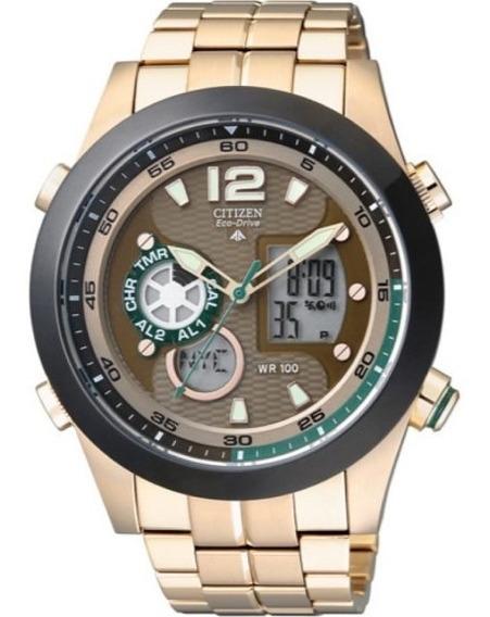 Relógio Citizen Masculino Dourado Ecodrive Tz10011x