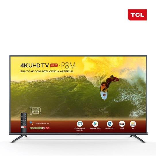 Tv 55p Tcl Led Smart 4k Wifi Comando Voz 55p8m