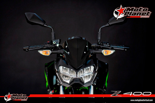 Kawasaki Z400 Negro Verde 2021