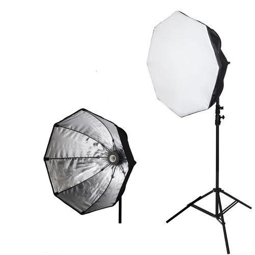 Kit Estúdio 2 Tripe Iluminação Softbox 70cm E27 Youtubers