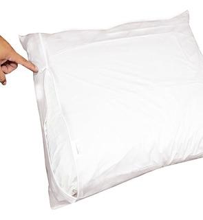 Protetor Fronha Com Zíper Siliconizado Para Travesseiro