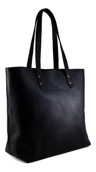 Bolsa De Dama Woge - 100% Piel - Color Negro
