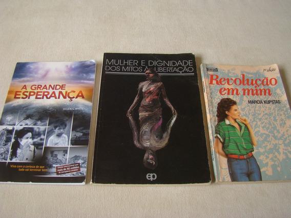 Lote 3 Livros - Mulher E Dignidade - A Grande Esperança
