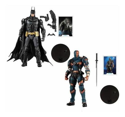 Imagen 1 de 7 de Batman Arkham Knight & Deathstroke Dc Multiverse Mcfarlane