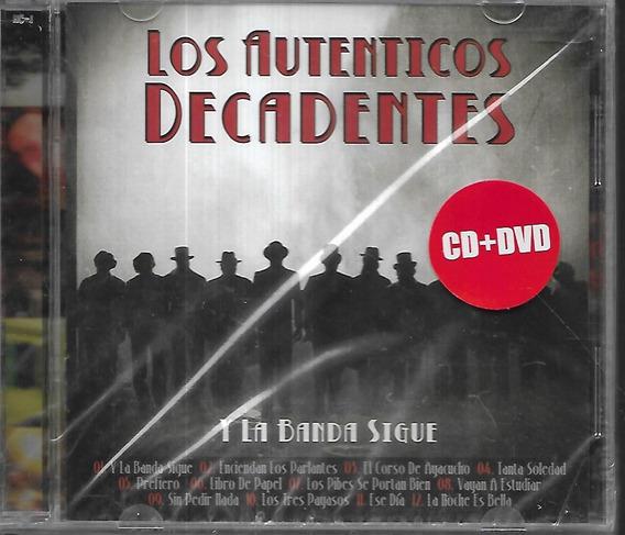 Los Autenticos Decadentes Album Y La Banda Sigue Cd+dvd Nuev