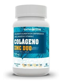 Colágeno Zmc Duo Tipos 1 E 2 Apisnutri 60 Cápsulas 1270mg