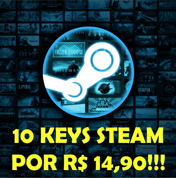 10 (dez) Keys Aleatórias Steam