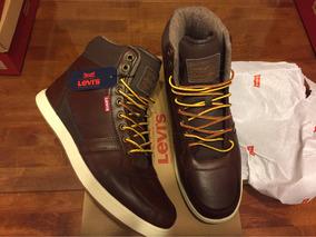 100% Auténticos Levis Sneaker Brown Size 9