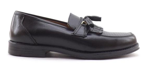 Zapatos Cuero Hombre Vestir Pompones Mocasin