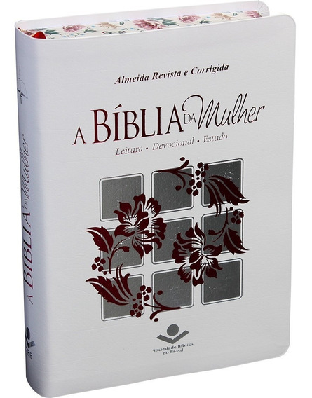 Biblia Da Mulher Grande Bordas Floridas Revista E Corrigida