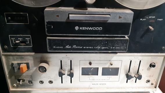 Deck De Rolo Kenwood Kw4077 Made Usa No Estado P/ Restauro.