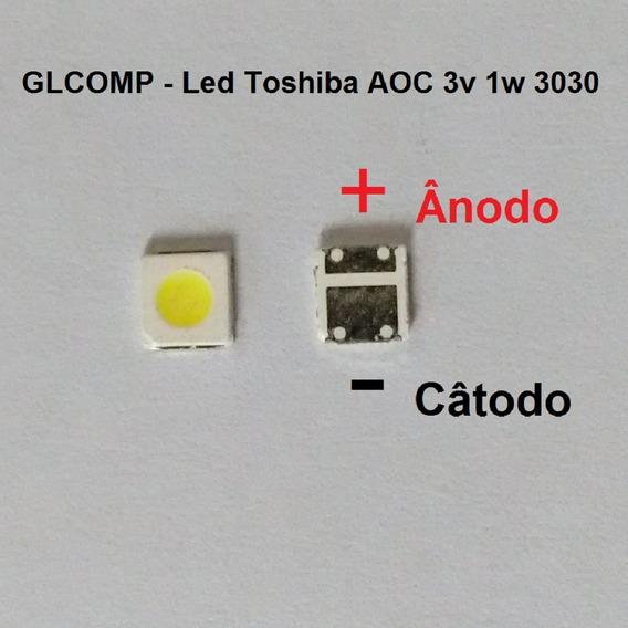 Led Smd Tv Toshiba Aoc Original 3v 1w 3030 C/ 20 Pçs Carta