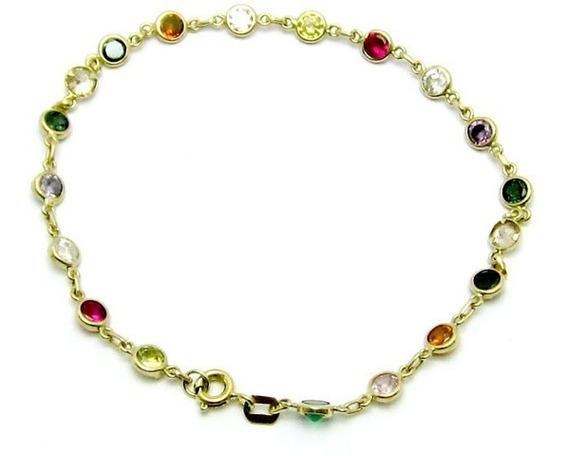 Joianete P9312-92421 Pulseira Pedras Coloridas Ouro 18k