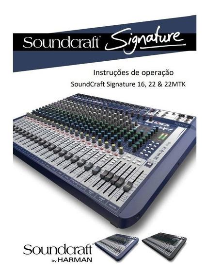 Manual Português Da Mesa Soundcraft Signature 16 22 Mtk Pdf