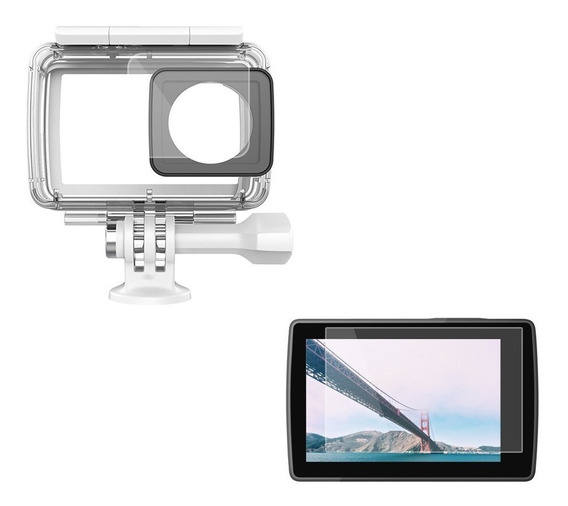 Conjunto Películas Proteção Tela Lcd E Lente Xiaomi Yi 2 4k
