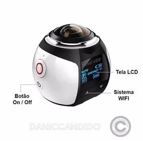 Câmera 360° Moto, Bike + Óculos Vr 3d + Micro Sd 64 Gb