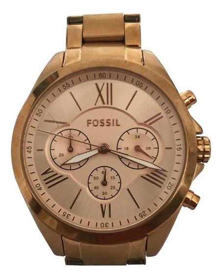 Relógio Fossil Bq1745 Feminino Dourado Original