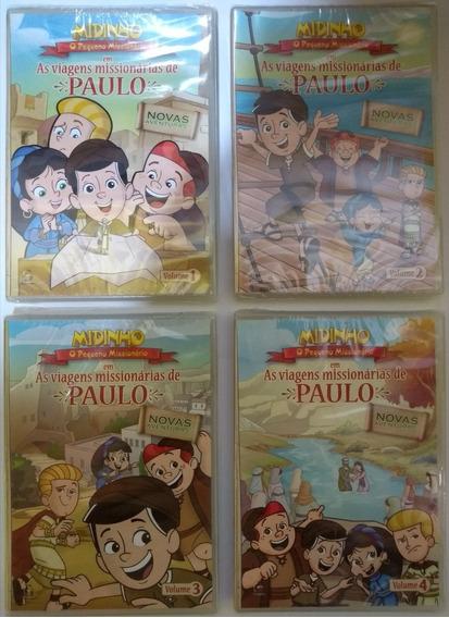Kit 4 Dvds Midinho As Viagens Missionárias De Paulo!!