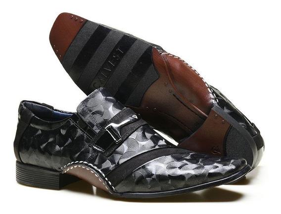 Sapato Social Couro Verniz Estilizado Calvest