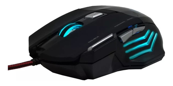 Mouse Gamer Usb Knup Kp-v4 2400 Dpi Com Led 7 Cores