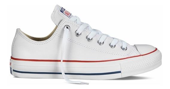 zapatillas converse piel mujer blancas