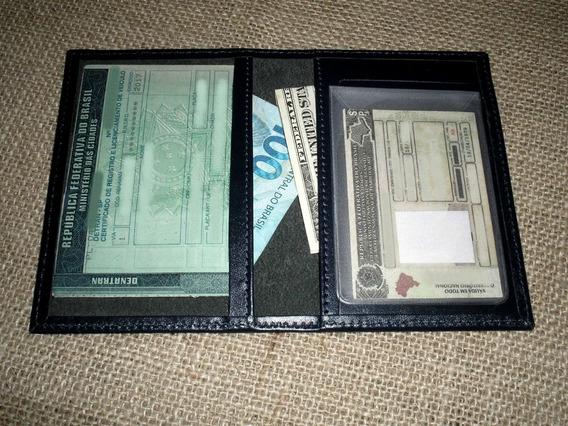 Porta Documentos Dut - Cor Azul - Carro E Cnh + Cartão -