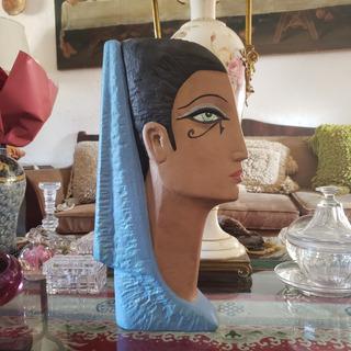 Figura Busto Grande De Mujer Egipcia Ojo De Horus