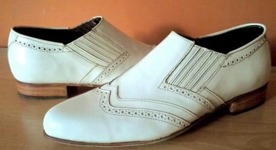 Zapatos Sin Cordones Escarpin De Cuero, Suela,elegantes