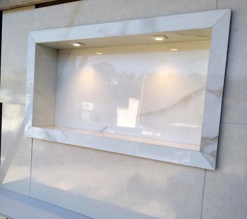Imagem 1 de 5 de Nichos Em Porcelanato Para Banheiro E Cozinha